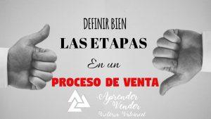 ETAPAS DEL PROCESO DE VENTA